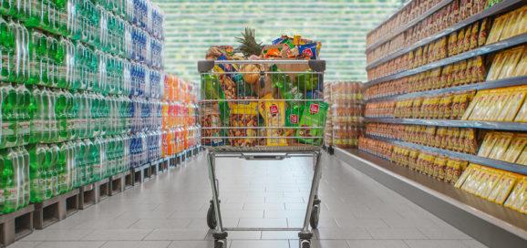 Schwarz Produktion Imagemotiv Einkaufswagen