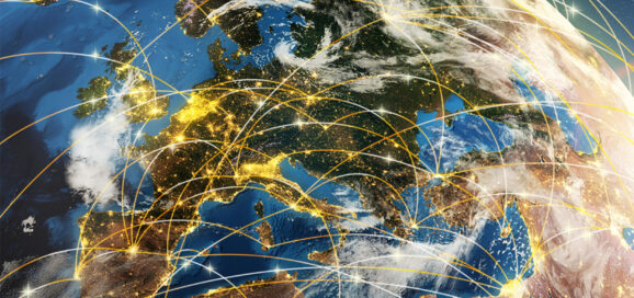 Weltkugel Europa