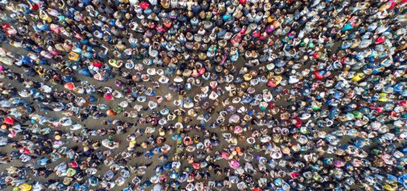 Menschen Ansammlung