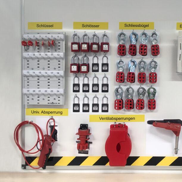 sortiertes Sicherheitsequipment